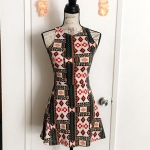 H&M Tribal Print Mini Dress